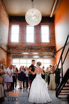 Wedding Reception At The Sochi Gallery In Downtown Macon Ga