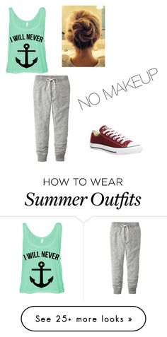 """""""Sunday Vibes"""" by jazzyb13 on Polyvore featuring Uniqlo and Converse"""