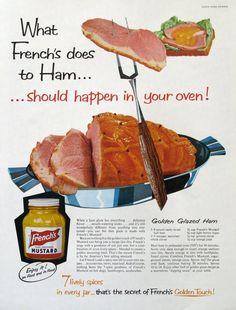Retro Recipes, Ham Recipes, Entree Recipes, Vintage Recipes, Snack Recipes, Group Recipes, 1960s Food, Retro Food