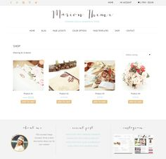 Ecommerce feminine genesis theme Mar by Lovely Confetti on Creative Market