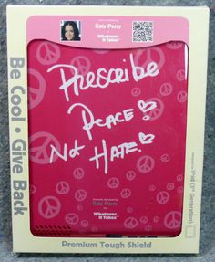 Apple iPad Katy Perry Art Shield Whatever It Takes Cover 3rd Generation Pink NEW…