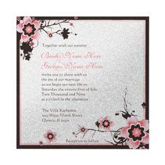 . Sakura wedding invitations .