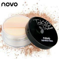 NOVO Loose Powder Face Concealer White Mette Foundation Mineral Powder Hightlighter Setting Face Powder Makeup