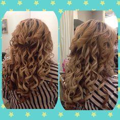 Spiral curls #enzoriccobenesalon