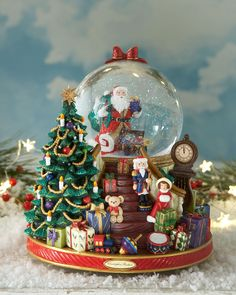 Christopher Radko Splendent Santa Snowglobe