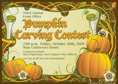 Pumpkin Carving Contest Graphic Design Projects Personalized Stationery