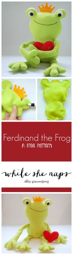 Sewing clothes diy how to make free pattern 44 Ideas Sewing Patterns Free, Doll Patterns, Free Pattern, Sewing Toys, Sewing Clothes, Frog Crafts, Softie Pattern, How To Make Toys, Fabric Toys