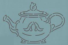 """Tea Pot 7"""" - The Stencil Company"""