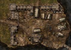 map fantasy camp bandit maps battle dragons dungeons pathfinder tiles printable rpg tabletop dungeon castle encounter tent forest tile hill