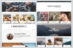 I love this theme. MANI - MultiPurpose Wordpress Blog by Ilgelo Design on @creativemarket