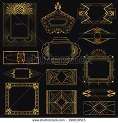 art deco graphic design elements - Google Search