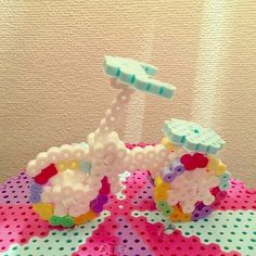 3D Tricycle perler beads