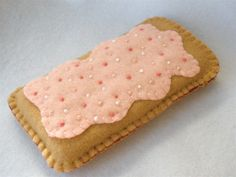 iPhone 5 Strawberry Toaster Pastry Felt Phone Case. $14.00, via Etsy.