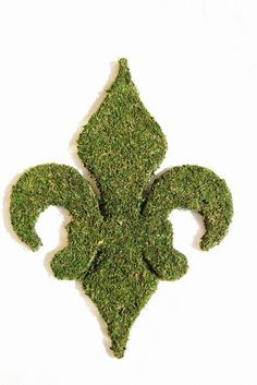 Moss Covered 18 inch Fleur De Lis Door Wreath. $60  http://www.etsy.com/listing/68838852/moss-covered-18-inch-fleur-de-lis-door