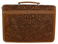 Incredible hand-tooled leather portfolio briefcase available right now on our website. Beautiful floral pattern on brown leather.  http://cobaltohandbags.com/product-catalog/mexican-handmade-leather-woven-handbags-purses/840236-yeo-portfolio-briefcase-bugatti-brown  #handbag #briefcase #portafolio #bolsa #bolso #maletin #cabo #loscabos #mexico #fashion #moda #estilo #leather #cuero #piel #hechaamano