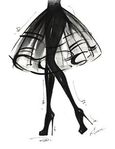 Sketch Fashion - inspiration from blossomgraphicdesign.com #boutiquedesign
