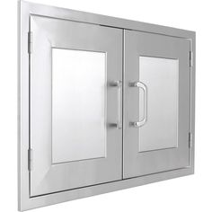 BBQGuys.com Kingston Panel Series Double Access Door - Angled View
