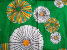 Vintage Fabric Retro Floral by VintagePlusCrafts on Etsy, $6.00