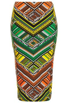 This is from Topshop bew and recent will be getting myself one in due time!AZTEC PRINT TUBE SKIRT- African prints are now in as u can use this style with a range of vibrant colour or modern other garments such as the London look mixed with African . Kitenge, African Inspired Fashion, African Fashion, Topshop Skirts, Style Ethnique, Tube Skirt, African Fabric, African Prints, Tribal Prints
