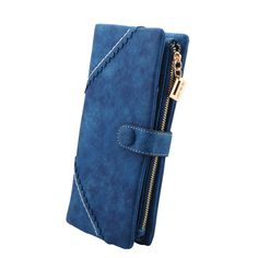Item Type: Wallet Closure Type: Hasp Item Height: 9.5 cm Gender: Women Pattern Type: Solid Lining Material: Polyester Style: Fashion Main Material: PU Wallet Length: Long Item Length: 19 cm Wallets: S