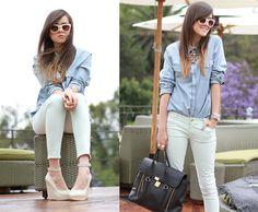 Andy T. - Zara Shoes, Acne Studios Shirt, 3.1 Phillip Lim Bag - THE TERRACE