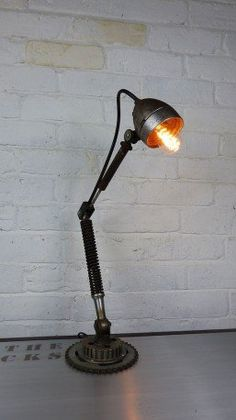 The Bike Desk, Table Lamp - A fun themed design upcycled from recycled bike parts that ooze retro style. A new meaning to 're-cycling' no pun intended.