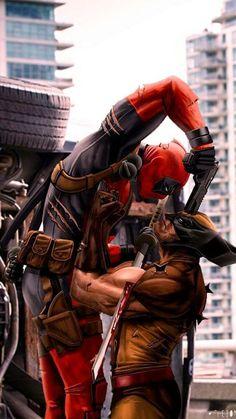 Deadpool Wolverine Logan X-Men art Marvel Wolverine, Marvel Comics Superheroes, Marvel Art, Marvel Heroes, Marvel Characters, Anime Comics, Marvel Avengers, Dead Pool, Deadpool Wallpaper