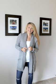 Wouldl love a cozy cardigan like this one.