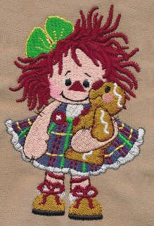 Threadsketches' set Sugar and Spice - Christmas embroidery designs, raggedy ann hugs gingerbread man
