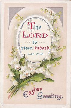"...""risen indeed..."" - vintage Easter card"