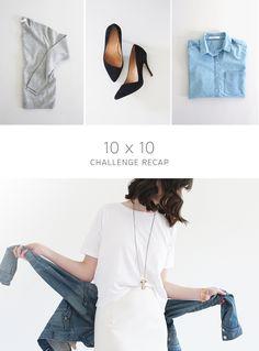 Style Bee - 10 x 10 Challenge Recap - Capsule Wardrobe