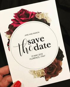 Who doesn't love flowers... Remember for destination weddings, send out the Save The Date invitations a year in advance, giving enough time for friends and family to save and prepare. #inspireddesign #weddinginspo #weddinginvitations #weddinginvitation #savethedateinvitations #destinationwedding #floralinvitations  #destinationinvitation #savethedate #invitationprinting