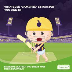 Congrats Kolkata Knightriders! Let's combat diarrhea with the same power that Gautam Gambhir used on his bat!