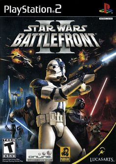 Star Wars: Battlefront II Sony PlayStation 2 I loved this game when I was a kid! Playstation 2, Xbox 360, Playstation Portable, X Wing, Sith, Juegos Ps2, Star Wars Video Games, Electronic Arts, New Aircraft