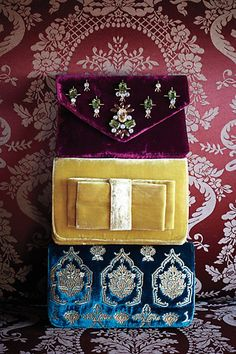 velvet clutches - anthropologie
