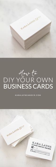 How to create your own business cards to give your brand a unique look #DIY #Branding #Design