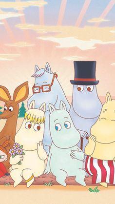 Moomin Wallpaper, Iphone Wallpaper, Adventure Time Girls, Moomin Valley, Tove Jansson, Disney Tsum Tsum, Cute Cartoon, Cartoon Characters, Character Design