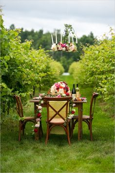 elegant floral table design #pinkwedding #fancywedding #weddingchicks http://www.weddingchicks.com/2013/12/27/fanciful-floral-wedding-ideas/