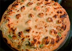 White Pizza with Shrimp, Crab & Asparagus | The Gilded Fork
