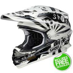 Shoei VFXW Motocross Helmet Dissent White TC-6