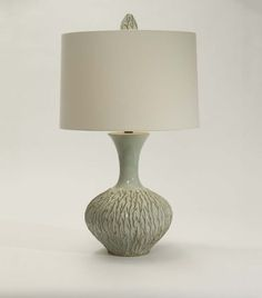 Twiggy Table Lamp Western Lamps - Pottery vase with twig design and matching finial. From one of our superior quality collections and made in the USA.