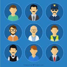 male-avatars-of-professions_23-2147513657.jpg (626×626)