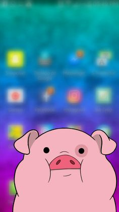 so cute : ) Pig Wallpaper, Mobile Wallpaper, Iphone Wallpaper, Hello Kitty Pictures, Fb Covers, Funny Wallpapers, Summer Art, Diy Projects To Try, Childhood Memories