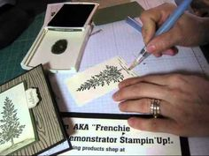 In this video you will have many tips on woodgrain embossing folder, spritzer tool and more all info at www.frenchiestamps.com on 11-12