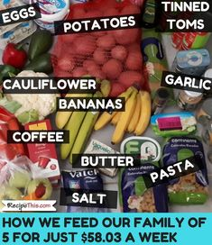 Cheap Family Meals Challenge Week 7 Grocery Shopping