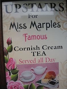 For a proper Cornish Cream Tea in the town of Looe in Cornwall, head to Miss Marple's on the main street. The cream tea originated in the areas of Cornwall and Devon and in Southwest England you will see teashops and bakeries all over advertising their cream teas.