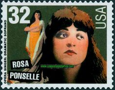 US Stamp - Legends of American Music - Opera Singer  Dramatic Soprano Rosa Ponselle