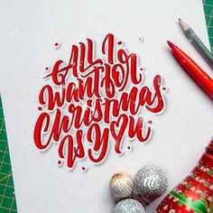 All I want for #Christmas is you by @arnaldovianna #handmadefont
