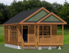 Small Log Home Plans, Small House Floor Plans, Cabin House Plans, Cabin Floor Plans, Tiny House Cabin, House With Porch, Cottage House, Shed Homes, Cabin Homes