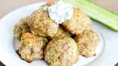 As much as I love meatballs, its honestly the last thing I think about when I go to plan my weekly menu. That being said, after I created this super simple recipe, I found it to show up far more often – especially for lunches since this freezes SO well! I also love packing them for nights I golf after work – they're super easy to eat on the run. I like to double the recipe and freeze the extras. It also goes great on top of greek salad, or a bed of rice!